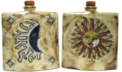Mara Ceramic Stoneware 24 Oz Sun and Moon Square Decanter