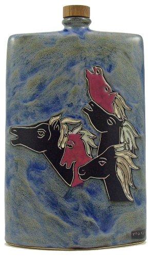 Mara Ceramic Stoneware 44 Oz Horse Rectangular Decanter