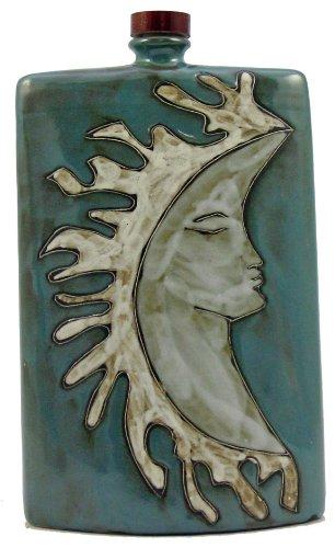 Mara Ceramic Stoneware 44 Oz Sun and Moon Rectangular Decanter