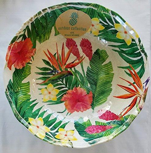 Outdoor Collection 100 Melamine Salad Bowl 105 Diameter w Flowers