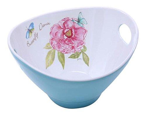SHALL Housewares 65809-B 9 Melamine Salad Bowl 9 Butterfly