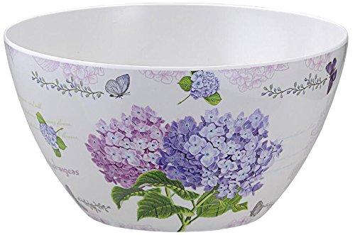 Shall Housewares International 8911 4 Piece Melamine Salad Bowl Hydrangea