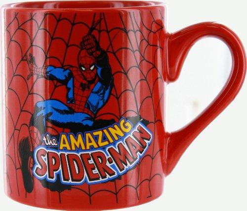 Silver Buffalo MC3032 Marvel Comics Spider-Man Web Slinging Coffee Mug 14-Ounces