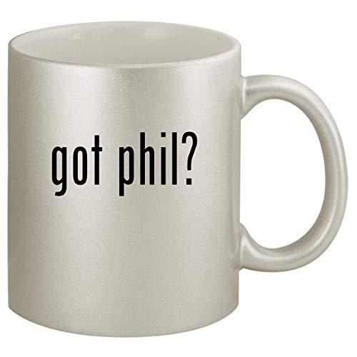 got phil - Ceramic 11oz Silver Coffee Mug Silver