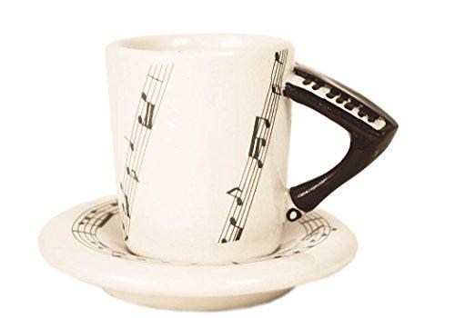 Piano 2oz Black Handmade Ceramic Espresso Cup 8cm x 5cm