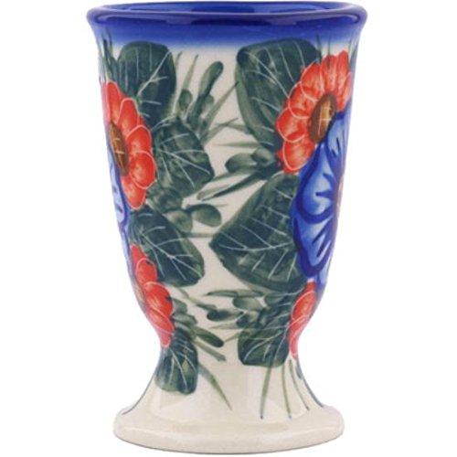 Ceramika Bona H7457G Polish Pottery Ceramic Goblet Hand Painted 7-Ounce