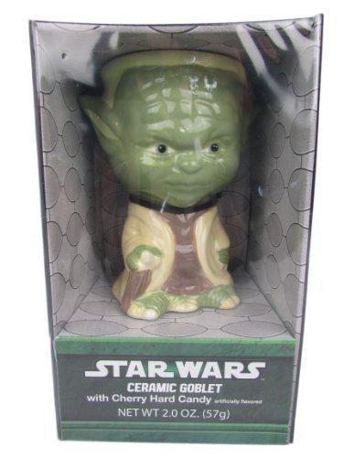 Star Wars Yoda Ceramic Goblet with Cherry Hard Candy