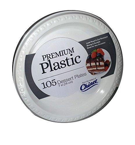 Chinet Premium Plastic Dessert Plates - 105 ct