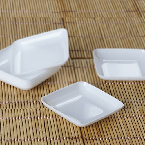 Efavormart 120 Pcs - White Mini Disposable Plastic Dessert Plate
