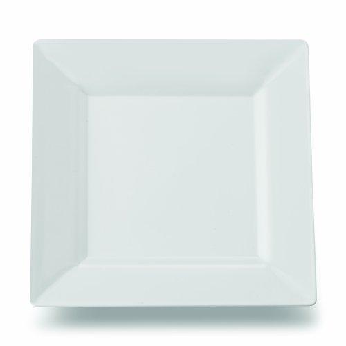 Square Plastic Dessert Salad Plates White 65 Inch 120ct Elegant Wedding Plate by Yoshi
