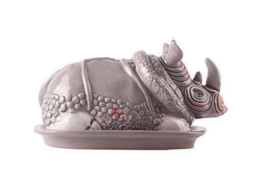 Blue Sky Ceramic 75X475X4 Rhino Butter Dish