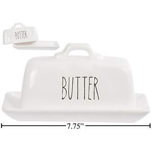 Farmhouse Modern Ceramic Butter Dish