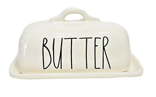 Rae Dunn Magenta Ceramic Butter Dish