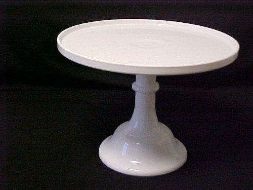 10 White Milk Glass Cake Stand Plate Bakery Grade