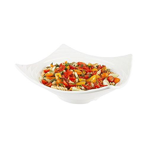 Melamine Serving Bowl Square Orb Serving Bowl - Large - White - 13 - 2ct Box - Voga - Restaurantware