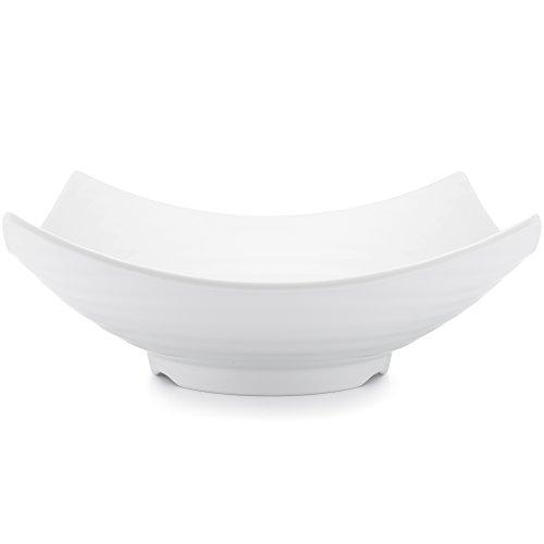 Q Squared Zen BPA-Free Melamine Serving Bowl 12-12 Inches White