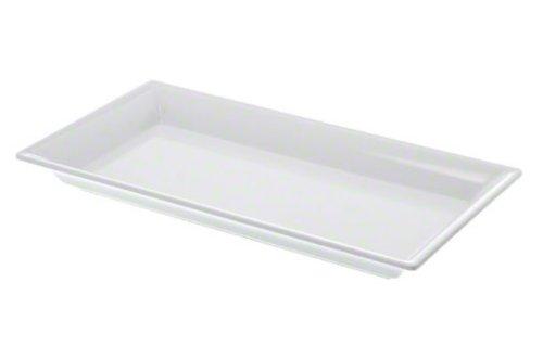 American Metalcraft MEL19 Endurance Melamine Rectangular Platter 1425 x 75 White