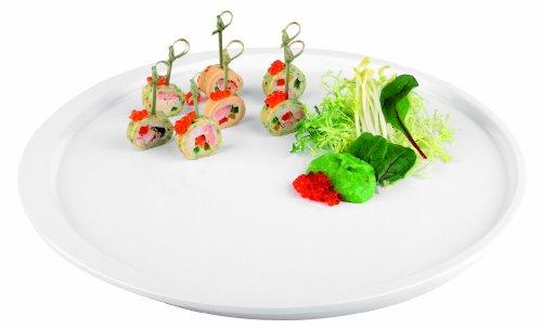 Aps Paderno World Cuisine Round White Melamine Platter 14-12-Inch