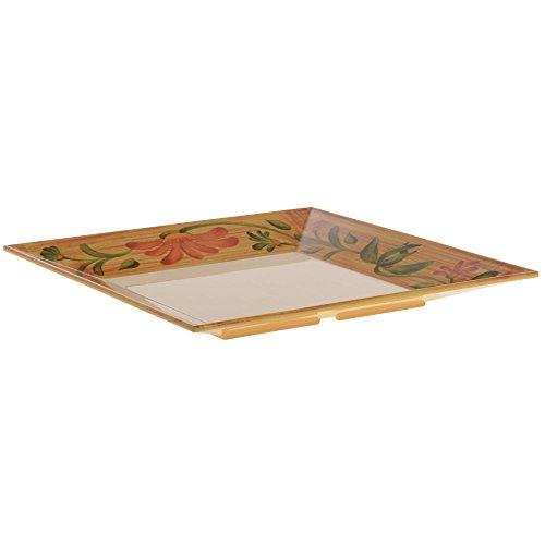 G E T Melamine Venetian Square Platter in Yellow 14L x 14W x 1 12H