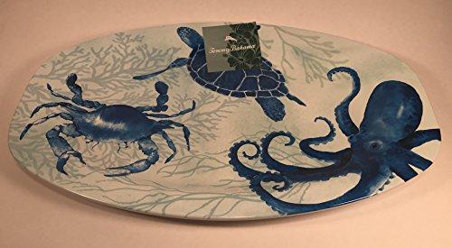 Tommy Bahama Melamine Oval Serving Platter Ocean Creatures 16