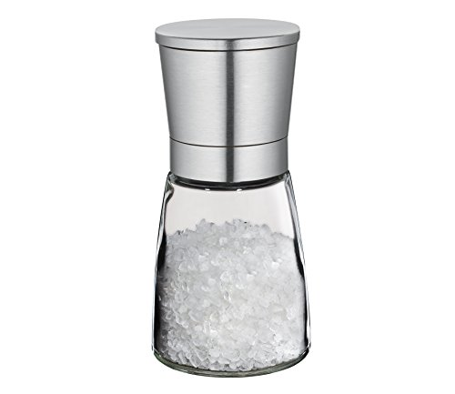 Cilio Brindisi Glass Spice and Salt Mill Stainless Steel