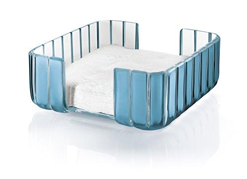 Guzzini Grace Table Napkin Holder 7-34-Inches by 7-34-Inches Sea Blue