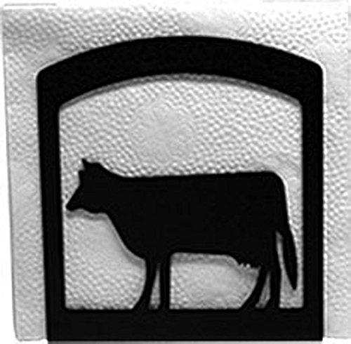 Iron Cow Table Napkin Holder - Heavy Duty Metal Serviette Dispenser Cocktail Napkin Holder