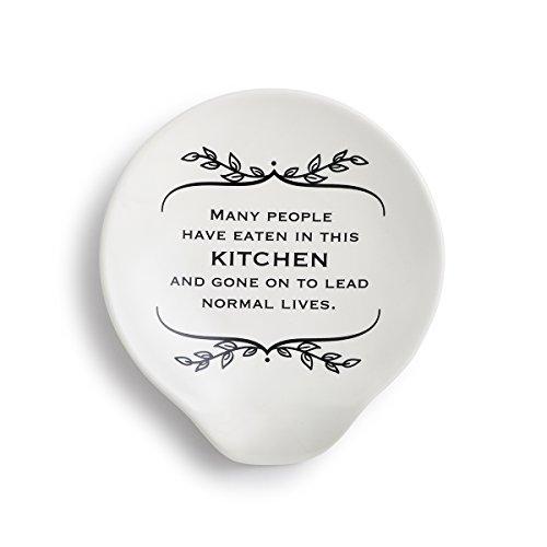 Demdaco 1004180158 Ceramic Spoon Rest White