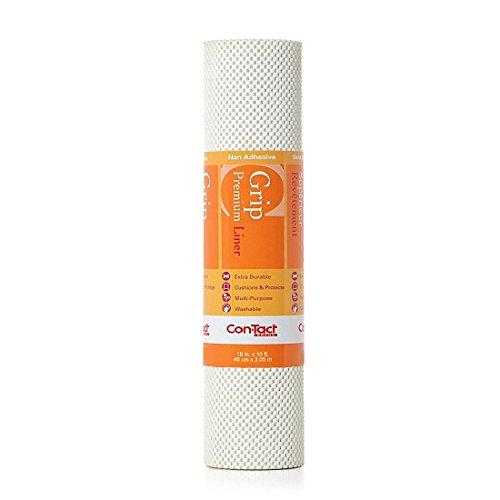 Con-Tact Brand Grip Premium Non-Adhesive Shelf Liner18-in x 10-Ft Bright White