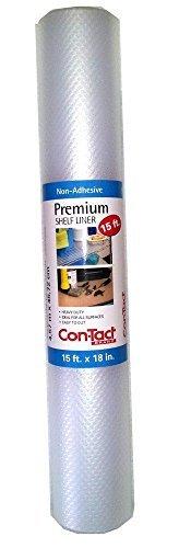 Contact Premium Non-Adhesive Shelf Liner 15 Ft - Bundle 2 Packs - 30 Total Ft