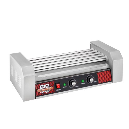 Great Northern Popcorn Commercial 12 Hot Dog 5 Roller Grilling Machine 1000Watts