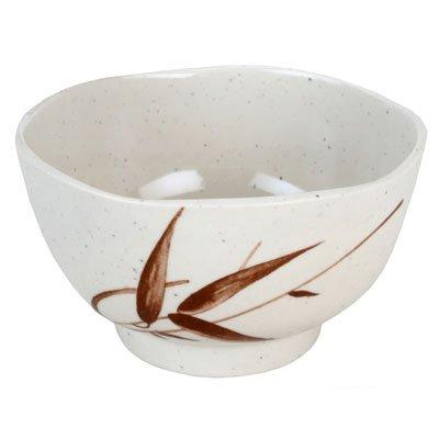 JapanBargain Reed Melamine Rice Miso Soup Bowl 45 L x 45 W