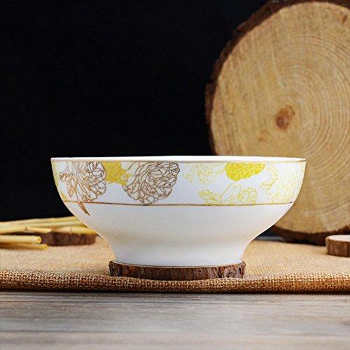 donfohy Plastic porcelain rice bowl soup bowl ceramic glaze color tableware hotel home Chinese ceramic bowl
