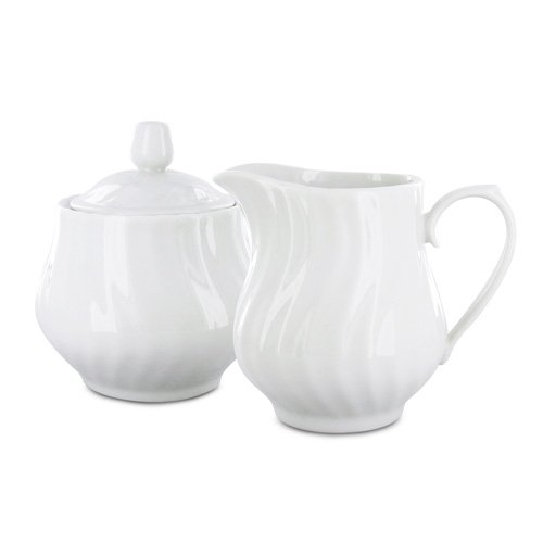 Porcelain Sugar and Creamer Set - Imperial White