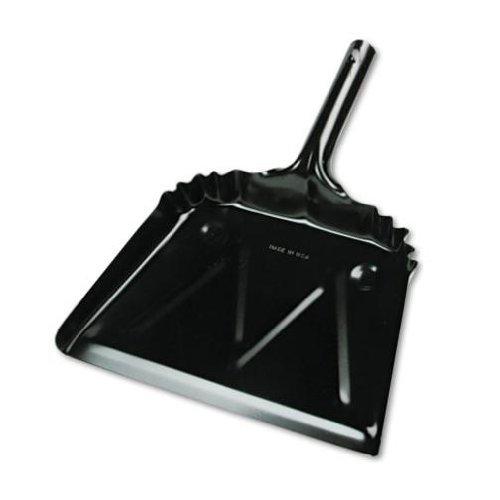 Unisan Metal 12' Dustpan, Wide, Black (03000)