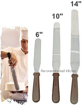 3 Size Commercial Baker Icing Spatula Set, Baking Spatulas, Cake Decorating Spatulas, Stainless Steel, Flexible