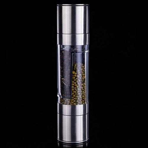 Household dual-use stainless steel grinder black pepper grinder Hand pepper grinder Spice seasoning spice mill-A