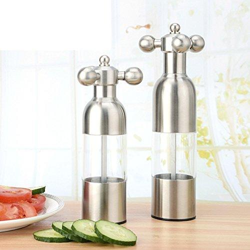 Pepper grinder manually Big black pepper grinder ground cruet kitchen supplies-B