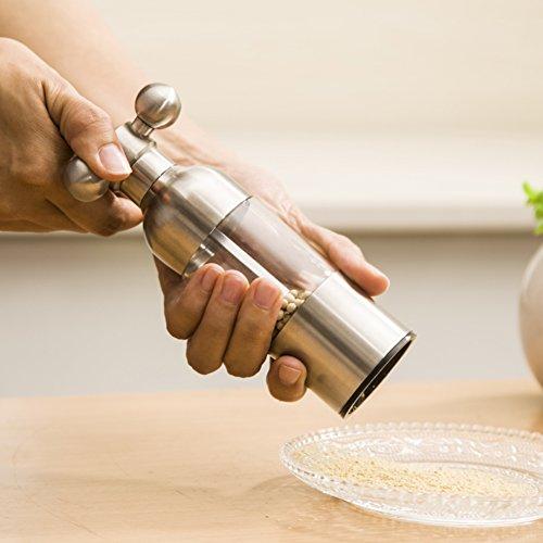 stainless steel grinder Manual black pepper grinder Pepper cruet spice mill kitchen tools-A