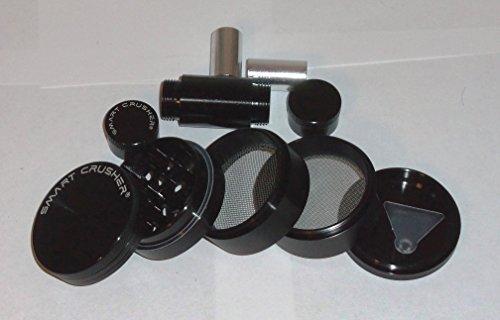 Smart Crusher 5 Piece Coffee Herb Pollen Grinder/ Cnc Pollen Press Combo