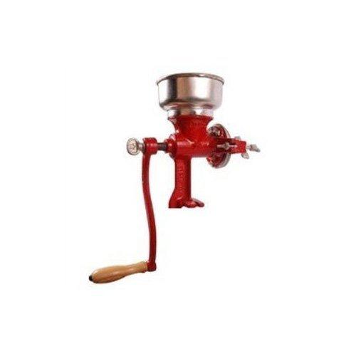 "Cast Iron Manual Crank Corn Grain Grinder 14"" Tall & 5"" Hopper"
