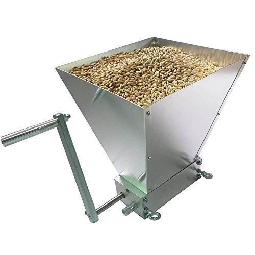 Stainless 2-roller Homebrew Barley Grinder Crusher Malt Grain Mill
