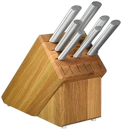 Rada Cutlery S58 Oak Block 7 Pc Stainless Steel Kitchen Knife Set with Aluminum Handles