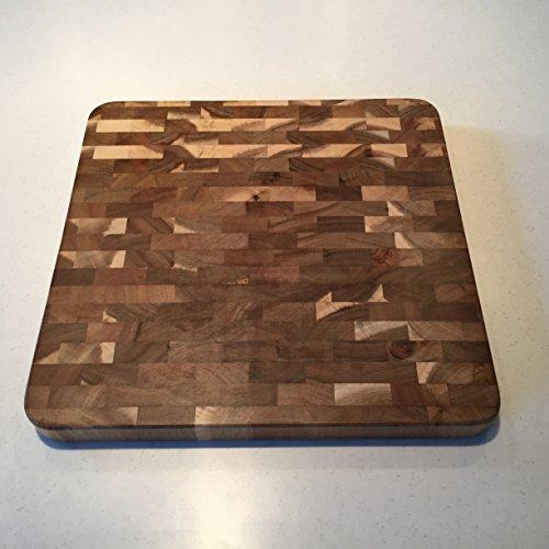 Organic Acacia Wood, 14-inch By 14-inch By 1.25-inch, End Grain Cutting Board And Prep Station (medium)