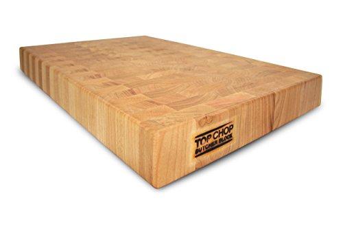 "Top Chop Butcher Block Premium Reversible End Grain Cutting Board, Cherry, 24"" X 18"" X 2"""