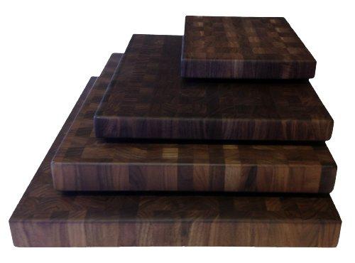 Walnut Cutting Boards End Grain Hardwood Butchers Chopping Block Size: Medium 14x18 Inch