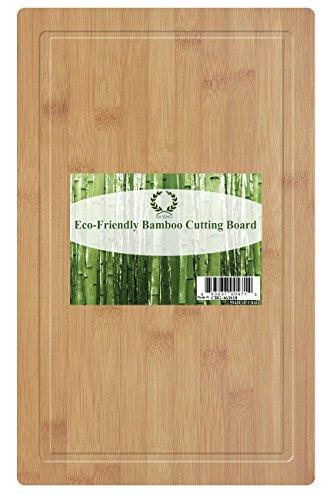 Da Vinci Natural Bamboo Groove Cutting Board, Extra Large 18 X 11.8 Inch Wood Cutting Board