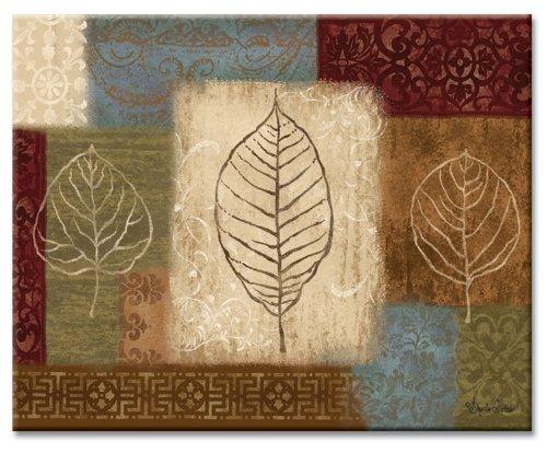 Counterart Leaf Collage Glass Cutting Board, 15 X 12 Inches