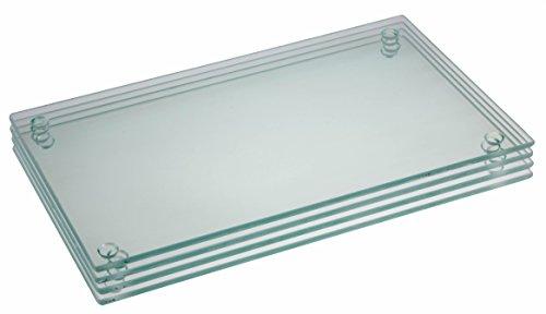 """Premium Tempered Glass Cutting Board Bundle 4 Pack - 9.75"""" X 6"""""""