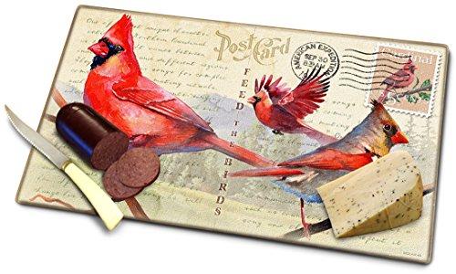 Vintage Bird Series Tempered Glass Cutting Board